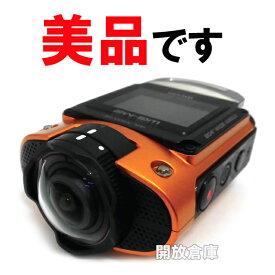 ★美品!RICOH アクションカメラ WGシリーズ WG-M2 オレンジ 【800万画素】【ウェアラブルカメラ】【山城店】