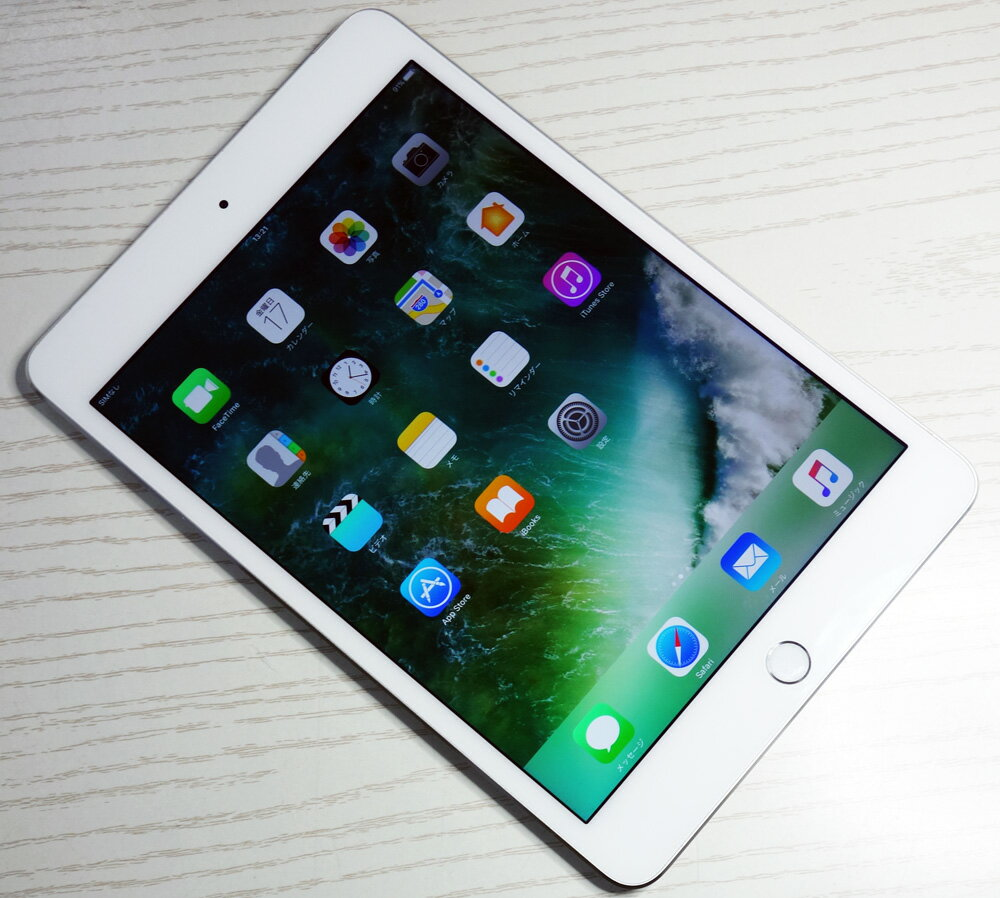 【中古】【美品】au Apple iPad mini4 Wi-Fi+Cellular 32GB MNWF2J/A Silver 【▲残債あり】【白ロム】【タブレット・Tablet】【家電】【福山店】[164]
