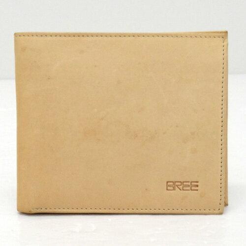 BREE ブリー 二つ折り財布/カラー:ベージュ/レザー《財布/サイフ/ウォレット》【服飾小物】【中古】【山城店】