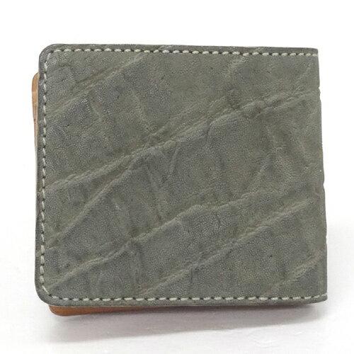 KC'S ケーシーズ 二つ折り財布/カラー:グレー/レザー/アメカジ《財布/サイフ/ウォレット》【服飾小物】【中古】【山城店】