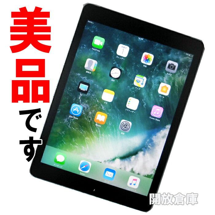 ★美品です!au版 Apple iPad Air 2 Wi-Fi+Cellular 16GB スペースグレイ MGGX2J/A 【利用制限:○】【iOS 10.2.1】【タブレットPC】【中古】【山城店】