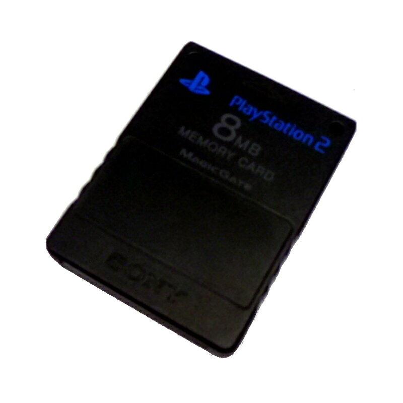 【中古】 ソニー PS2用 メモリーカード 8MB ブラック【生活館】