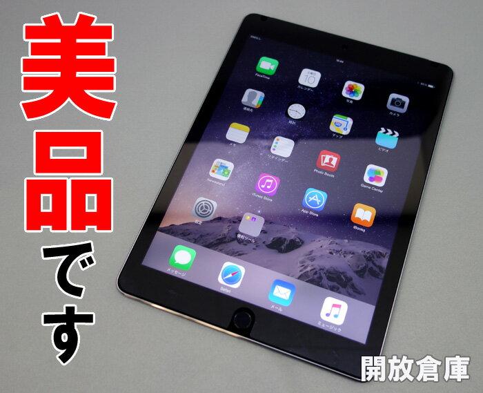 ★au版 Apple iPad Air 2 Wi-Fi+Cellular 16GB スペースグレイ MGGX2J/A 【中古】【利用制限:〇】【iOS 8.4.1】【タブレットPC】【山城店】