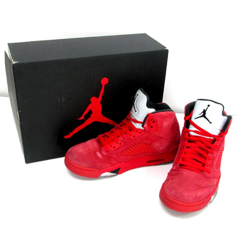 【中古】【メンズ古着】NIKE ナイキ AIR JORDAN 5 RETRO UNIVERSITY RED エアジョーダン 5レトロ/27.5cm/レッド/136027-602/スニーカー/靴 シューズ 【山城店】