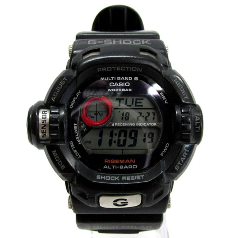 CASIO カシオ G-SHOCK ジーショック RISEMAN ライズマン 腕時計/GW-9200J/ブラック/ソーラー/樹脂バンド《腕時計/ウォッチ》【服飾小物】【中古】【山城店】