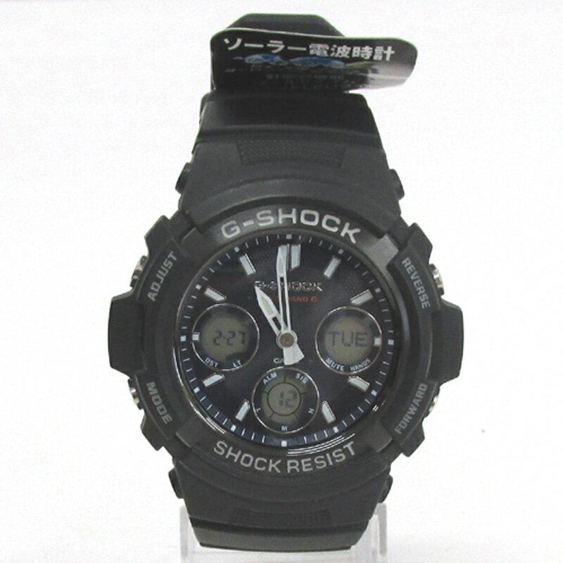 CASIO カシオ G-SHOCK ジーショック 腕時計/品番:AWG-100GB/カラー:ブラック/20気圧防水/タフソーラー《腕時計/ウォッチ》【服飾小物】【中古】【山城店】