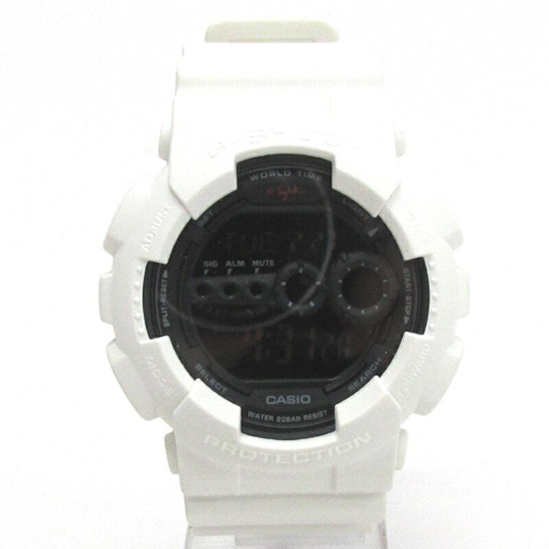 CASIO カシオ G-SHOCK ジーショック 腕時計/品番:GD-100NS/ホワイト/樹脂バンド/20気圧防水/クオーツ《腕時計/ウォッチ》【服飾小物】【中古】【山城店】