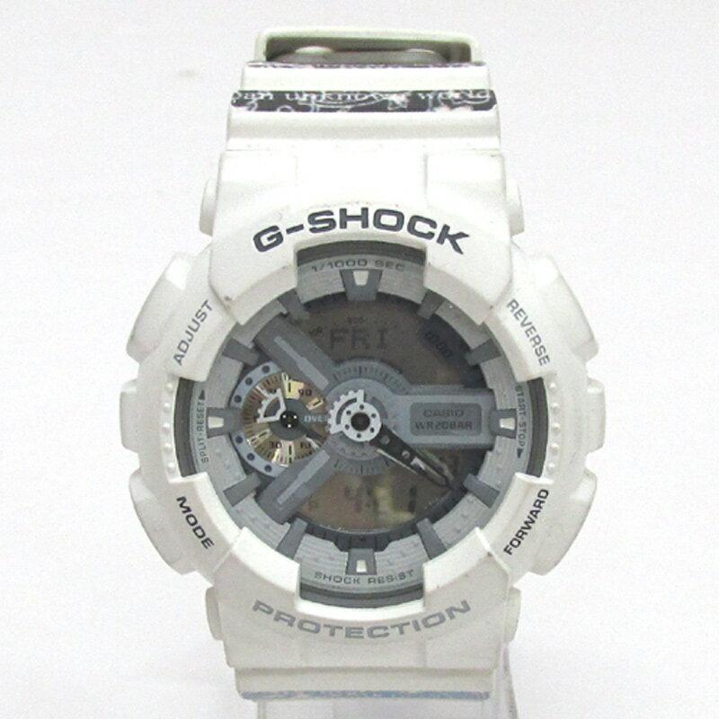 CASIO カシオ G-SHOCK ジーショック 腕時計/品番:GA-110C/カラー:ホワイト/バンダナ/クオーツ《腕時計/ウォッチ》【服飾小物】【中古】【山城店】