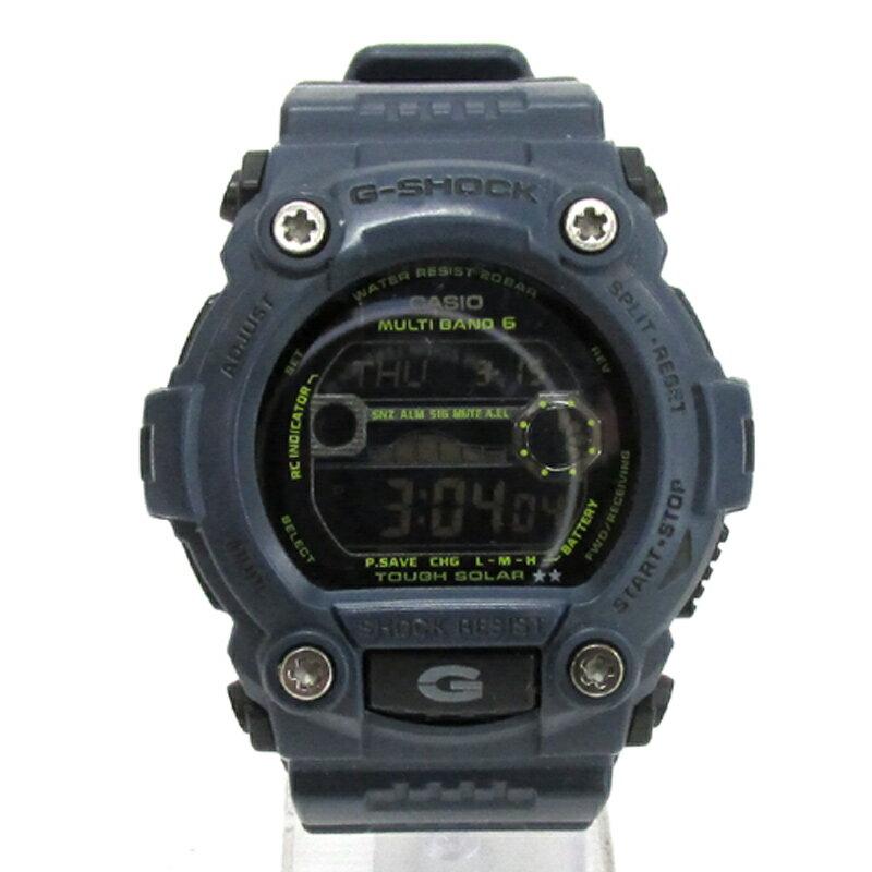 CASIO カシオ G-SHOCK ジーショック 腕時計/GW-7900NV/ネイビーブルー/電波ソーラー/タフソーラー/20気圧《腕時計/ウォッチ》【服飾小物】【中古】【山城店】