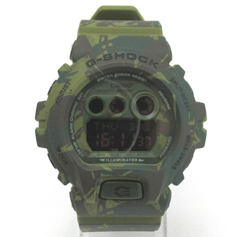 CASIO カシオ G-SHOCK ジーショック 腕時計/品番:GD-X6900HC/カラー:グリーン×迷彩/クオーツ《腕時計/ウォッチ》【服飾小物】【中古】【山城店】