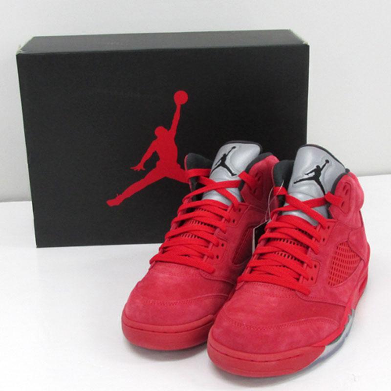 "NIKE AIR JORDAN 5 RETRO ""UNIVERSITY RED"" /品番:136027-602/サイズ:27.5cm/カラー:赤/スニーカー/靴 シューズ【中古】【メンズ古着】【山城店】"