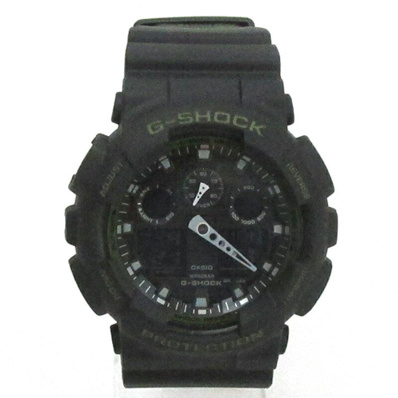 CASIO カシオ G-SHOCK ジーショック 腕時計/品番:GA-100L-1AER/カラー:ブラック×カーキ/防水/クオーツ 《腕時計/ウォッチ》【服飾小物】【中古】【山城店】