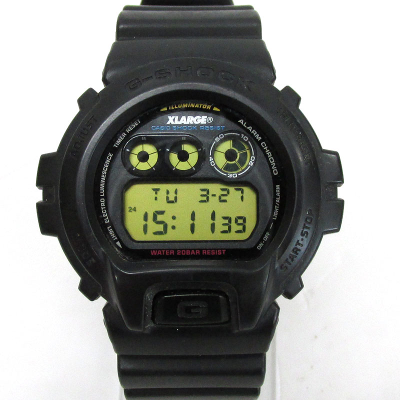 CASIO G-SHOCK × X-girl ジーショック×エックスガール 時計/品番:DW-6900FS/黒/クォーツ/トリプルコラボ《腕時計/ウォッチ》【服飾小物】【中古】【山城店】