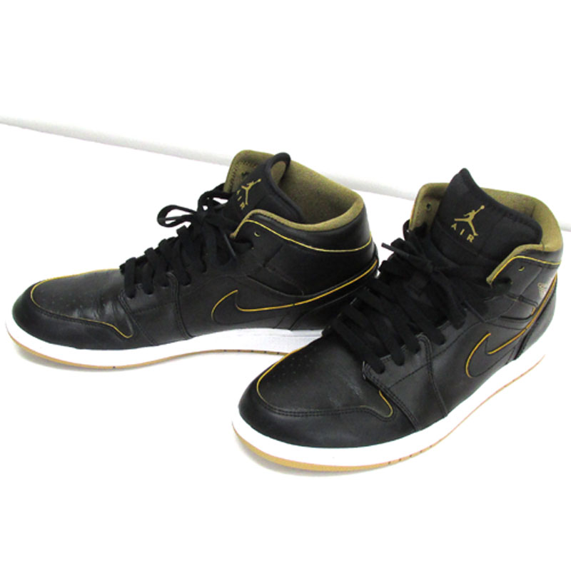 【中古】【メンズ古着】NIKE ナイキ AIR JORDAN 1 MID エアジョーダン 1ミッド サイズ:28cm/カラー:BLACK/554724-042/スニーカー/靴 シューズ 【山城店】
