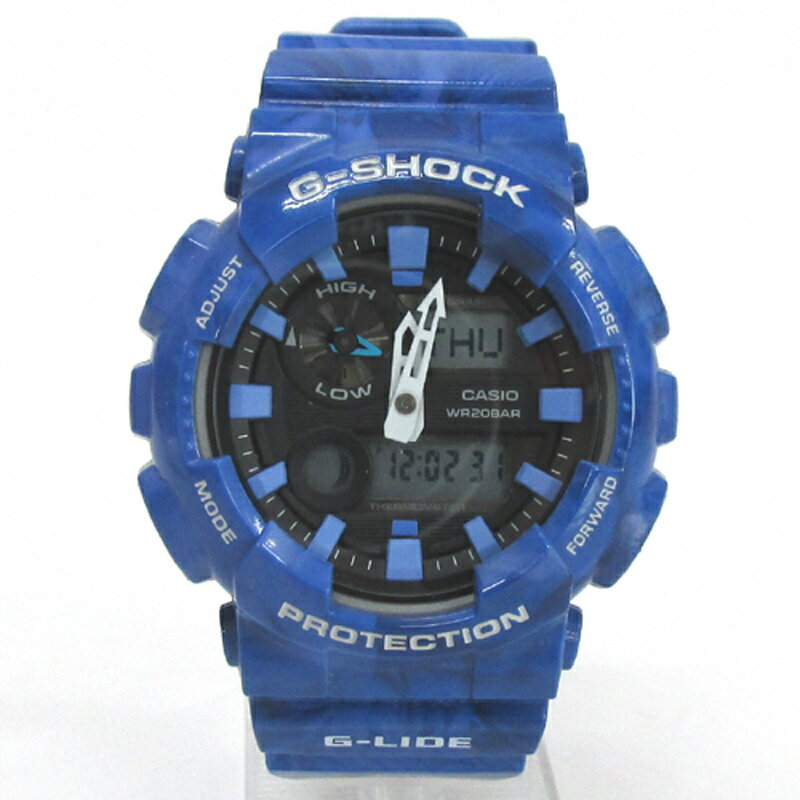 CASIO カシオ G-SHOCK ジーショック 腕時計/品番:GAX-100MA-2AJF/カラー:ブルー/クオーツ/マーブル《腕時計/ウォッチ》【服飾小物】【中古】【山城店】