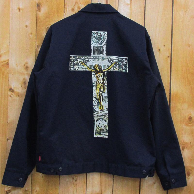 【中古】【メンズ古着】Supreme シュプリーム Dead Kennedys デットケニーズ Work Jacket ワークジャケット サイズ:M/紺/バックプリント/ストリート【山城店】