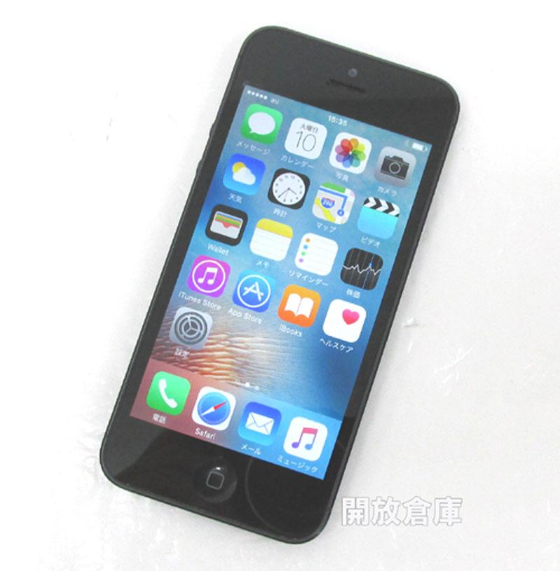 au Apple iPhone5 32GB ME041J/A ブラック【中古】【白ロム】【 990002831727316】【利用制限: ◯】【iOS 9.2.1】【スマホ】【山城店】
