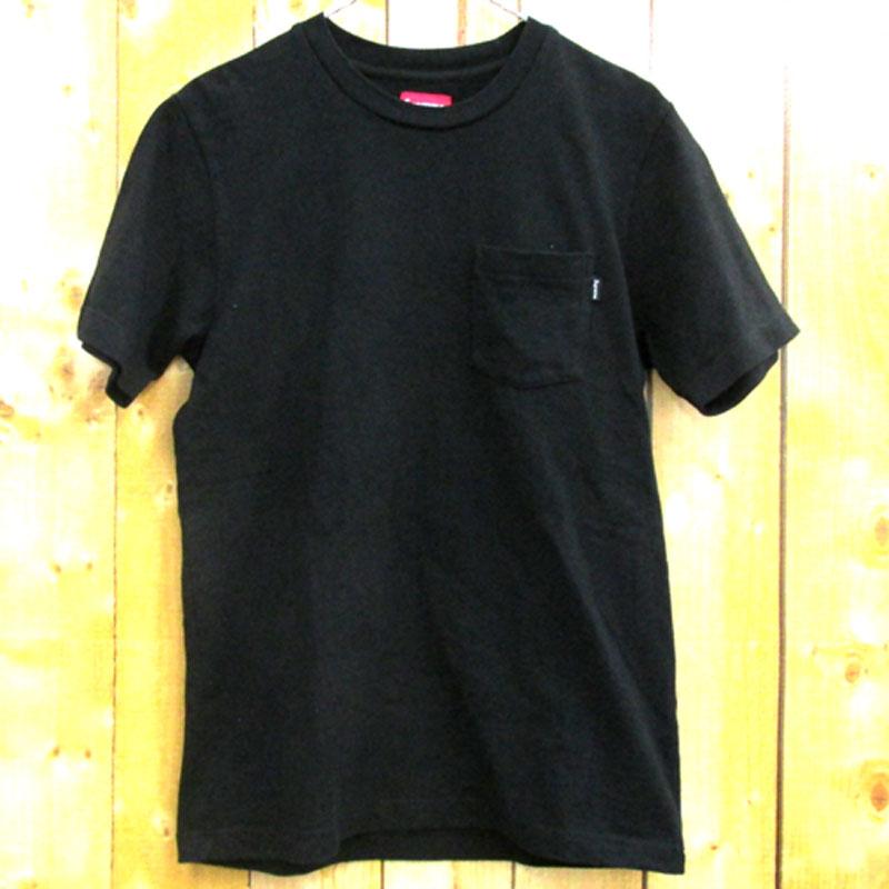 【中古】【メンズ古着】Supreme シュプリーム Pocket Tee ポケット Tシャツ サイズ:S/カラー:ブラック/ストリート【山城店】
