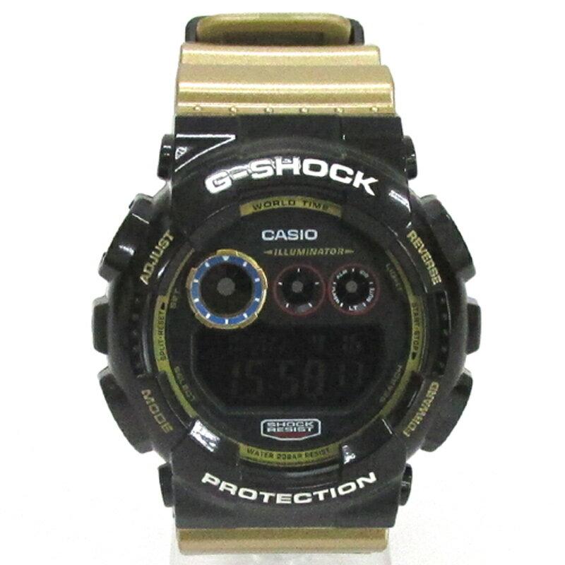 CASIO カシオ G-SHOCK ジーショック 腕時計/品番:GD-120CS/カラー:ブラック×ゴールド/クォーツ《腕時計/ウォッチ》【服飾小物】【中古】【山城店】