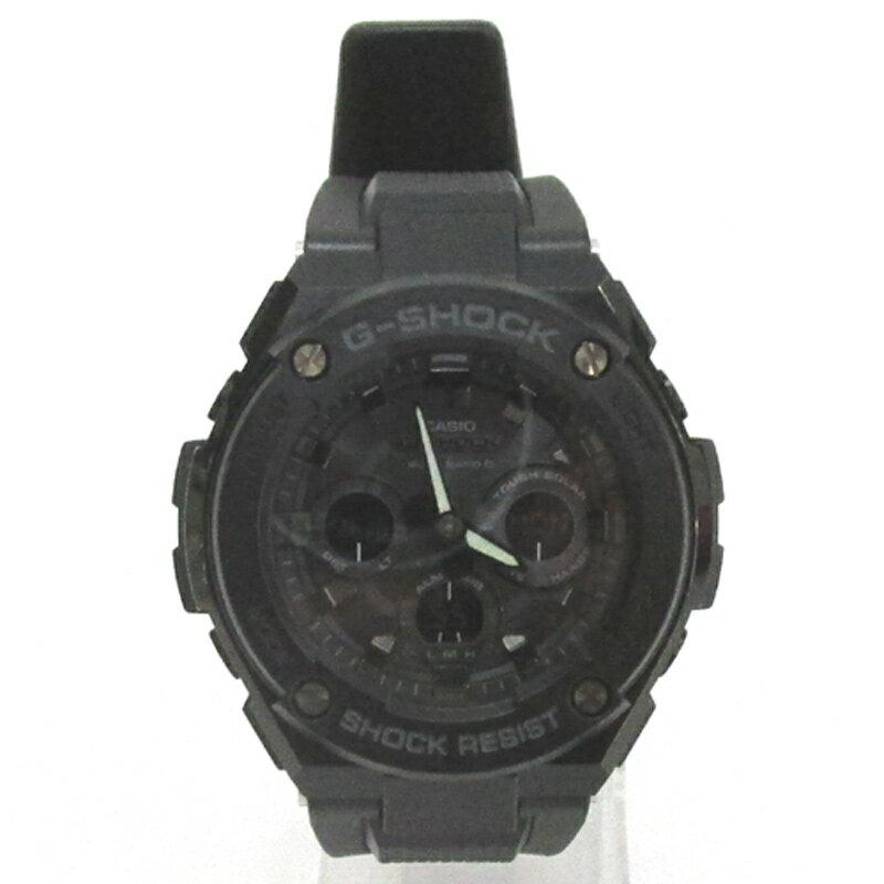 CASIO カシオ G-SHOCK ジーショック 腕時計/品番:GST-W300G-1A/ブラック/電波ソーラー/タフソーラー《腕時計/ウォッチ》【服飾小物】【中古】【山城店】