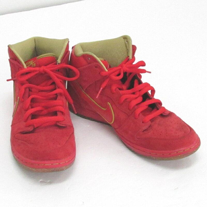 【中古】【メンズ古着】NIKE ナイキ DUNK HI PREMIUM SB'14 ダンクハイプレミアム/サイズ:28cm/カラー:レッド/スニーカー/靴 シューズ【山城店】