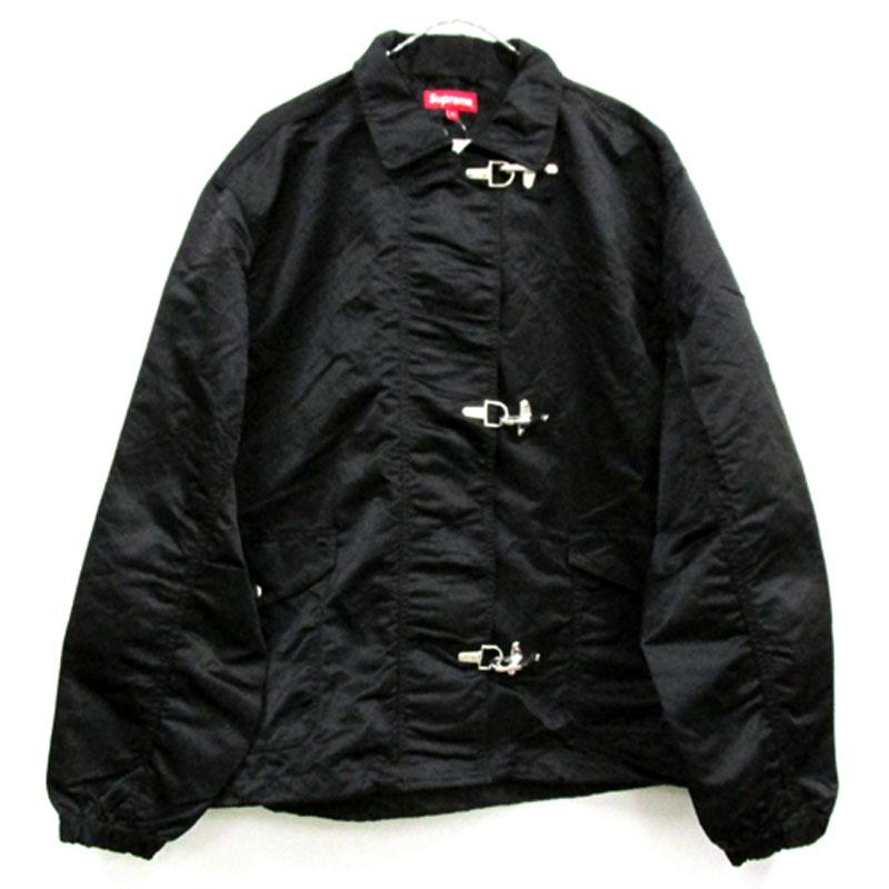 【中古】【メンズ古着】Supreme シュプリーム Nylon Turnout Jacket ナイロン ジャケット サイズ:XL/カラー:BLACK/18SS/ストリート【山城店】