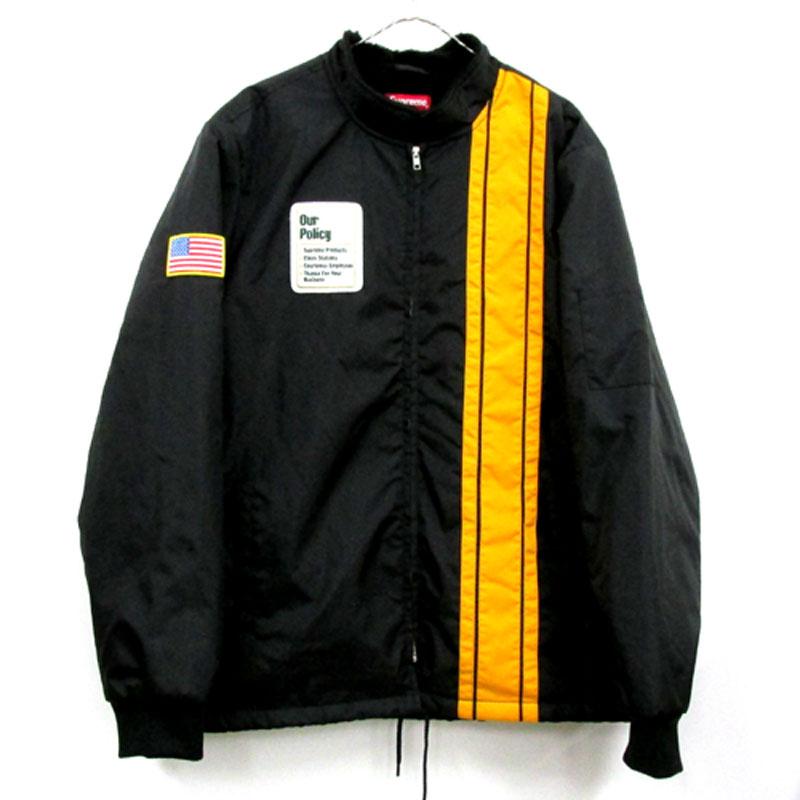 【中古】【メンズ古着】Supreme シュプリーム Pit Crew Jacket ピットクルー ジャケット サイズ:XL/カラー:BLACK/17AW/アウター/ストリート 【山城店】