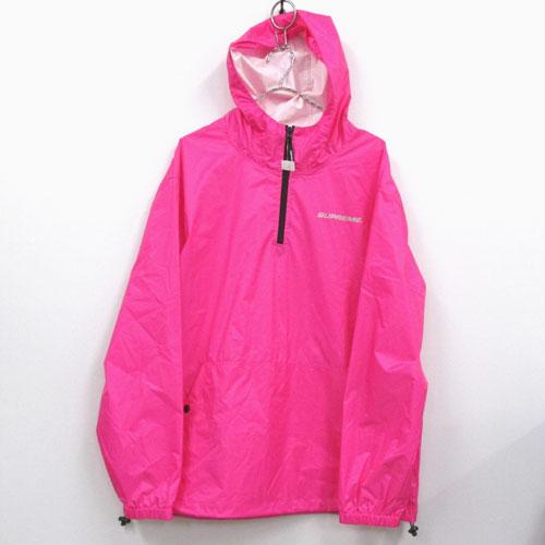【中古】【メンズ古着】Supreme シュプリーム Packable Ripstop Pullover ナイロン ジャケット サイズ:L/カラー:ピンク 系/17AW/ストリート【山城店】