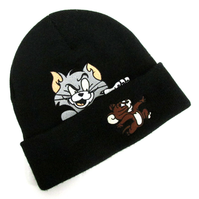 【中古】【メンズ古着】Supreme シュプリーム Tom&Jerry Beanie ニット帽 サイズ:F/カラー:BLACK/16AW/キャップ/帽子【山城店】