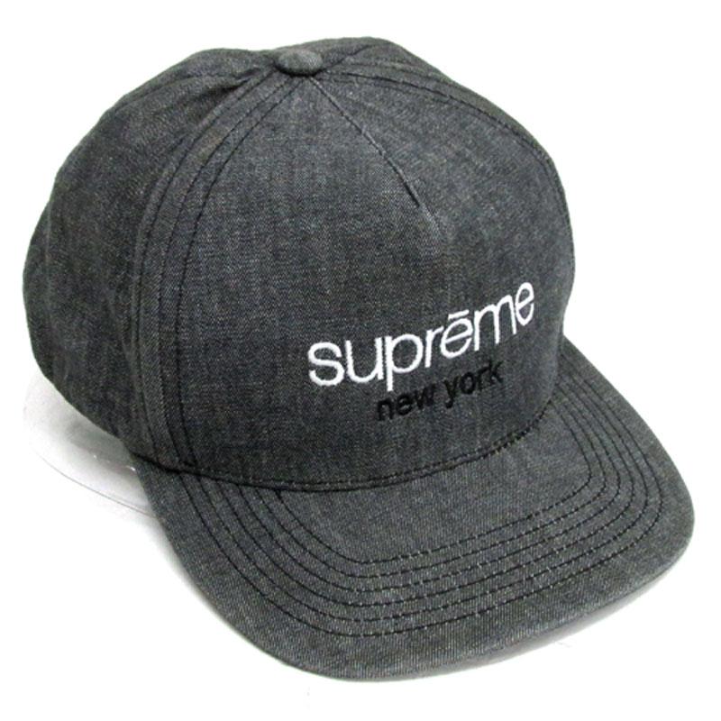 【中古】【メンズ古着】Supreme シュプリーム Classic Logo Denim 5 Panel クラシックロゴ 5パネル キャップ サイズ:SnapBack/グレー 系/13SS/帽子【山城店】
