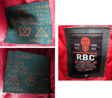【中古】【メンズ古着】R.B.Cアールビーシーレザージャケットサイズ:XL/カラー:グリーン・カーキ系/アメカジ【山城店】
