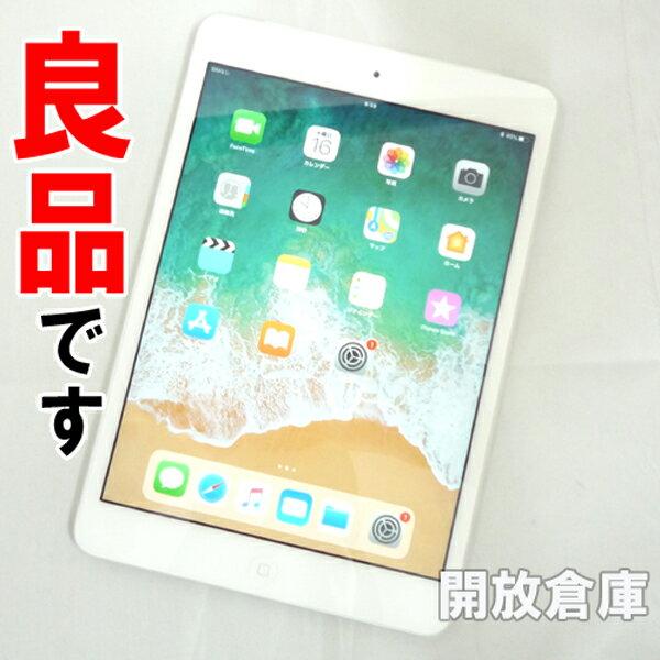 【中古】良品です au版 Apple iPad mini2 Wi-Fi+Cellular 16GB シルバー 第2世代 ME814J/A 【利用制限:○】【iOS 11.3】【タブレットPC】【山城店】