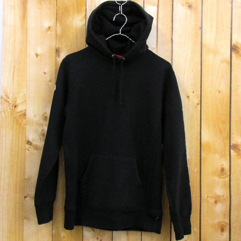 【中古】【メンズ古着】Supreme シュプリーム Rose Hooded Sweatshirt ローズフーディッドスウェット サイズ:S/カラー:黒/16AW/ストリート【山城店】