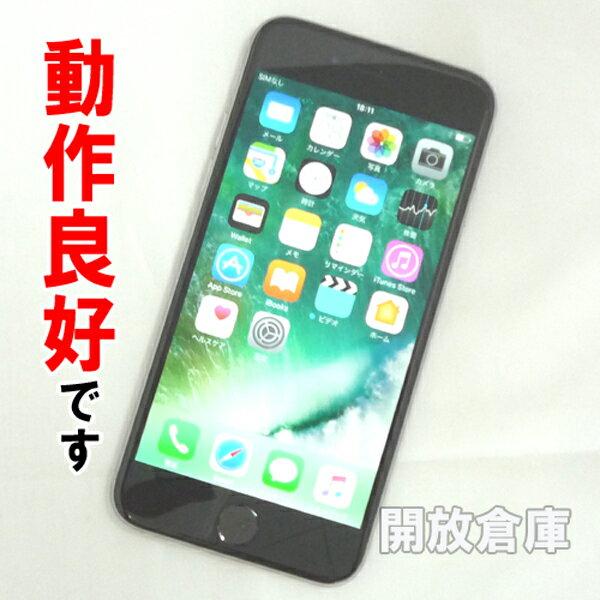 【中古】動作良好 Softbank Apple iPhone6 64GB MG4F2J/A スペースグレイ【白ロム】【355412077637567】【利用制限: ○】【iOS 10.2.1】【スマホ】【山城店】