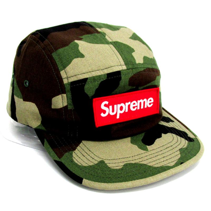 【中古】【メンズ古着】Supreme シュプリーム Ripstop Camp Cap リップストップ キャンプ キャップ サイズ:F/カラー:カーキ(カモ柄)/15SS/帽子【山城店】