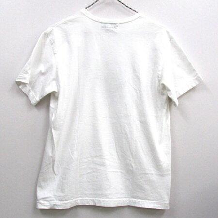 【中古】【メンズ古着】SASSAFRASササフラスFORALLTEE半袖Tシャツサイズ:S/カラー:ホワイト/アメカジ【山城店】