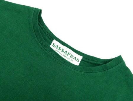 【中古】【メンズ古着】SASSAFRASササフラスSFLOGOTYPETeeSFロゴタイプTシャツサイズ:S/カラー:グリーン/半袖/アメカジ【山城店】
