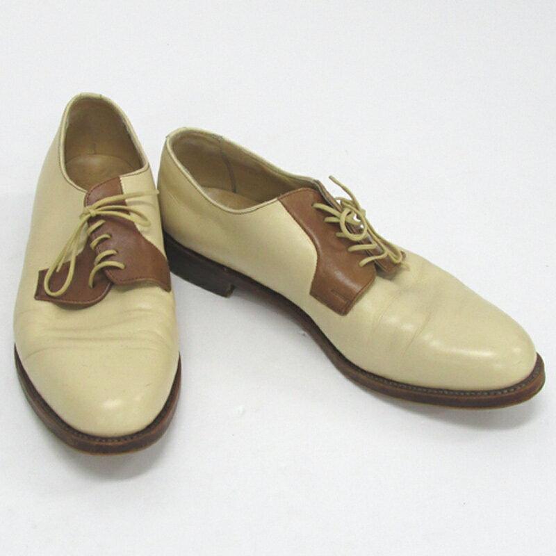 【中古】【メンズ古着】PARA BOOT パラブーツ レザーシューズ サイズ:9.5/カラー:ベージュ 系/靴 シューズ/他靴【山城店】