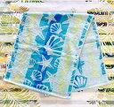○o。ハワイアン グラデーション シェル フェイスタオル 綿100% 34×83cm ブルー ハワイアンインテリア 出産祝い 結…