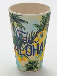 ○o。ハワイアン パームツリー柄 パイナップル バンブー カップ 食器・コップ・キッチン用品・コーヒーカップ* ハワイ ハワイアン雑貨 ハワイアンインテリア ハワイアン食器 ハワイ お土産