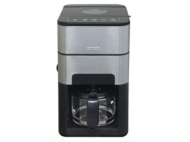 石臼式コーヒーメーカー 【ブラック】 ON-01全自動 ミル付き ステンレス内部自動洗浄機能付メッシュフィルター採用 メーカー保証:1年間