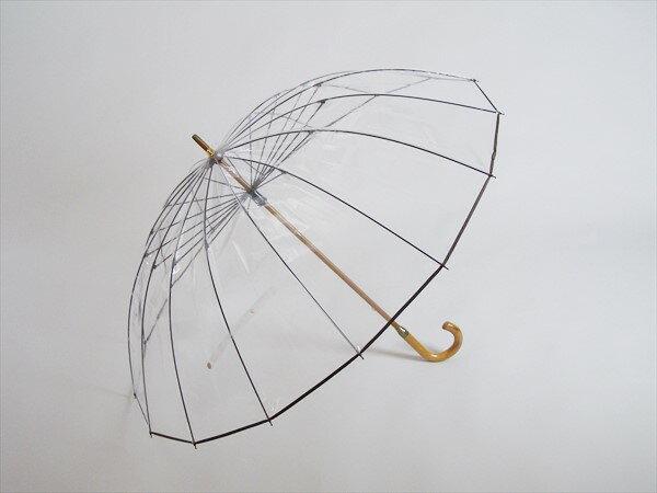 【数量限定入荷】カテール16 かて〜る16傘男女兼用 16本骨 かさ ホワイトローズ社ビニール傘 かてーる16 耐風傘 風に負けない傘日本製