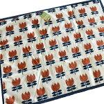 ハーフケット「チューリップパターン」ハーフ毛布100×140cm
