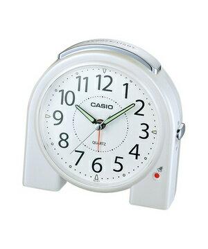 カシオ 置き時計 TQ-377-7JF ライト機能を搭載したベルアラームクロック。【CASIO カシオ アナログ 目覚まし時計 置時計 アラーム デジタル時計よりオススメ!旅行機能通販メンズレディースキッズ大人子供】