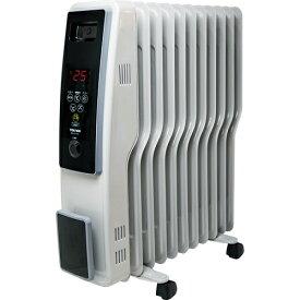 テクノス TEKNOS オイルヒーター(デジタル表示) タイマー機能付 TOH-D1101【11枚フィン S型フィン 暖房ヒーター 電気ヒーター おしゃれ】