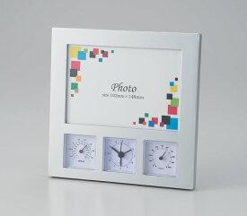 *アイトック/ワイドフォトクロックサーモ 6114【時計 写真が入る 温度計付き 湿度計付き フォトフレーム 写真たて 粗品 名入れ】