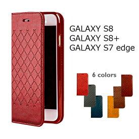 スマートフォンケース GALAXY S8ケース SC-02J/SCV36・GALAXY S8+ケース SC-03J/SCV35 GALAXY S7 edgeケース 手帳型ケース カード収納付き スタンド機能 デザインケース かっこいい ソフト スマホケース スマートフォンカバー 携帯カバー ビジネス シンプル