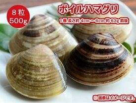 冷凍 生食可能 ボイル 殻付き はまぐり 500g 8粒入 1個約4〜6cm前後 蛤 BBQ バーベキュー 網焼き 業務用 貝