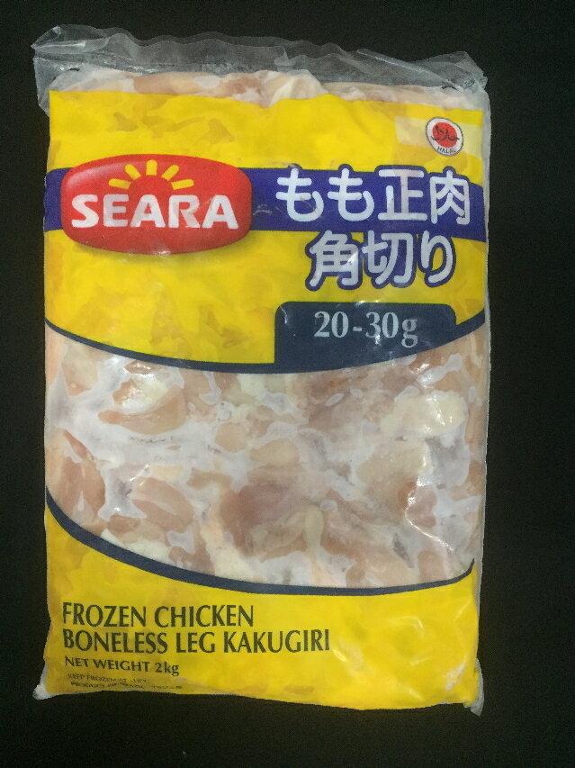 冷凍 鶏もも肉角切り 2kg カットタイプ(1つ 20g〜30g) 業務用【鶏肉 鳥肉 とりにく モモ肉 唐揚げ】