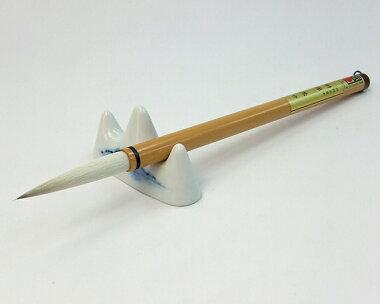 【豊橋筆22】太筆兼毫筆9mm×54mm『羊毛馬毛書道用品書道筆』